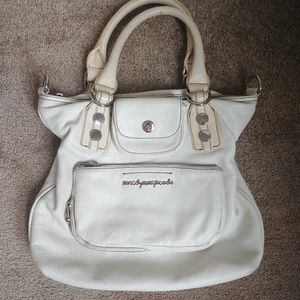 Marc by Marc Jacobs White Leather Zip Pocket Bag